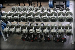 We have over 17,000 lbs of free weights!